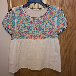 Tops - THML Embroidered Top Size Medium